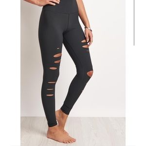 Alo high waisted warrior ripped leggings L